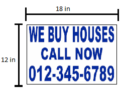 small sign pricing sizes